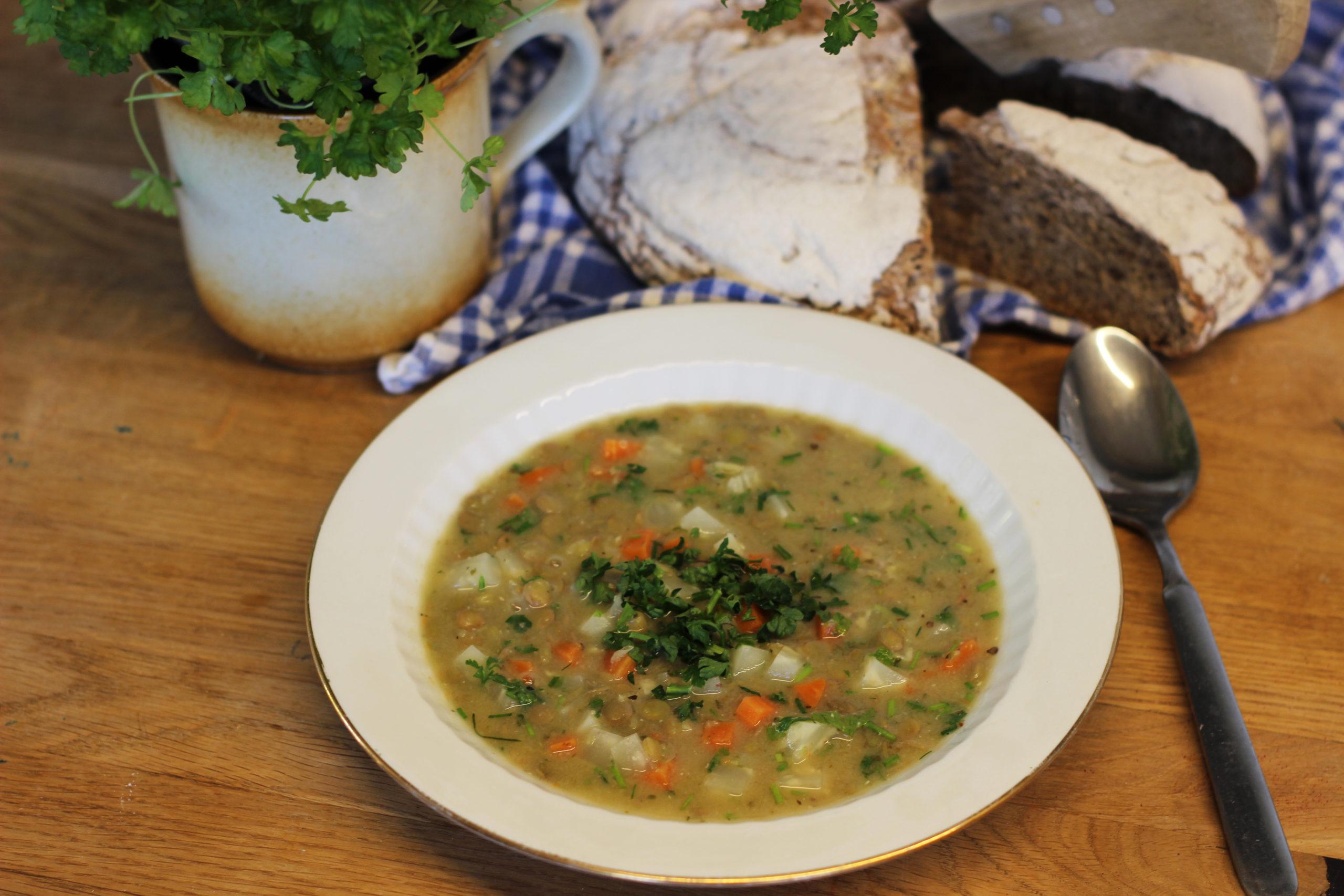 Čočková odlehčená polévka